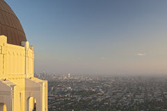 View of Los Angeles from the Griffith Observatory in Los Angeles Stock Photography