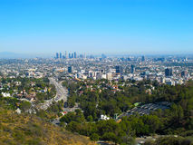 View of Los Angeles from the Hollywood Hills Royalty Free Stock Photos
