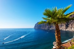View of Los Gigantes cliff spain Royalty Free Stock Photo