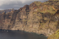 View of Los Gigantes cliffs. Tenerife, Canary Islands, Spain Royalty Free Stock Photography