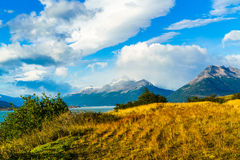 View at the Los Glacier National Park Stock Photo