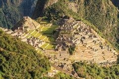 Machu Picchu, Peru. The ancient Inca city, located on Peru at the mountain, New Wonder of the World. View of the Lost Incan City of Machu Picchu near Cusco, Peru royalty free stock photos