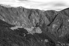 Machu Picchu, Peru. The ancient Inca city, located on Peru at the mountain, New Wonder of the World. View of the Lost Incan City of Machu Picchu near Cusco, Peru stock images
