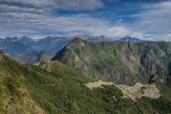 Machu Picchu, Peru. The ancient Inca city, located on Peru at the mountain, New Wonder of the World. View of the Lost Incan City of Machu Picchu near Cusco, Peru stock photography