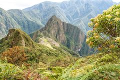 Machu Picchu, Peru. The ancient Inca city, located on Peru at the mountain, New Wonder of the World. View of the Lost Incan City of Machu Picchu near Cusco, Peru royalty free stock photo