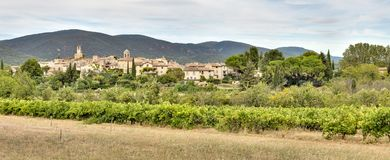 Lourmarin in Luberon - Provence - France. View of Lourmarin in Luberon - Provence - Vaucluse - France Royalty Free Stock Images