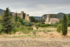 Lourmarin in Luberon - Provence - France. View of Lourmarin in Luberon - Provence - Vaucluse - France Royalty Free Stock Photo