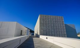 View of Louvre Abu Dhabi Museum royalty free stock image