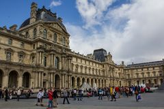View of Louvre building Stock Photo