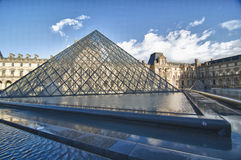 View of The Louvre Museum in Paris Stock Image