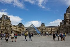 View of Louvre museum Stock Photos