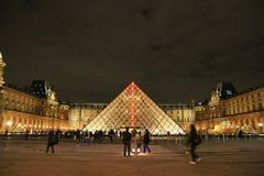 View of the Louvre museum,  Paris, France Stock Photo