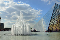 View of the Louvre outdoors Royalty Free Stock Images