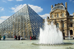 View of the Louvre outdoors Royalty Free Stock Photography