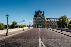 View of Louvre Palace and Pont Royal in Paris Stock Photography