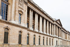 View of Louvre Palace from quay Stock Photos