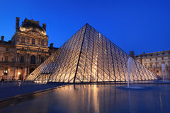 View on the Louvre Pyramid Stock Photography