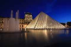View on the Louvre Pyramid Royalty Free Stock Image