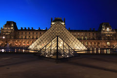 View on the Louvre Pyramid Stock Photos
