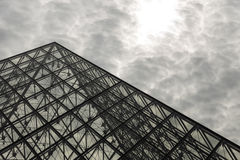 View of the Louvre Pyramid. Royalty Free Stock Photos