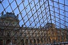 The view from Louvre's pyramid Stock Images