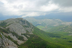 View from Lovcen mountain Stock Photography