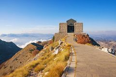 View of Lovcen National Park and building of Njegos Mausoleum. Montenegro Stock Photography