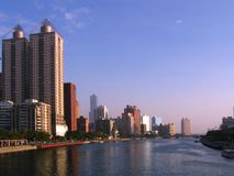 View of the Love River. In downtown Kaohsiung, Taiwan Stock Photos