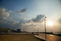 Tel-Aviv Harbor Boardwalk Stock Photography