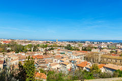 View of Lower City, Carcassonne, France Stock Photos