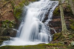 View of the Lower Crabtree Falls in the Blue Ridge Mountains, Virginia, USA Royalty Free Stock Images