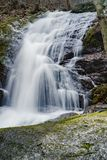 View of the Lower Crabtree Falls in the Blue Ridge Mountains, Virginia, USA - 2 Royalty Free Stock Photo