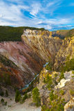 View from the Lower Falls in Yellowstone Stock Images