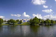 View of the Lower Lake. In Kaliningrad Royalty Free Stock Photo