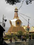 SWAYAMBHUNATH STUPA Lower Level Shrine. This is a view of  the lower level of SWAYAMBHUNATH STUPA in Kathmandu, Nepal Royalty Free Stock Photography