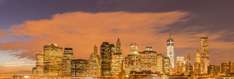The view of lower manhattan from brooklyn Royalty Free Stock Photos