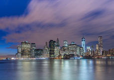 The view of lower manhattan from brooklyn Royalty Free Stock Images