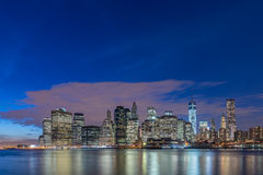The view of lower manhattan from brooklyn Stock Photo