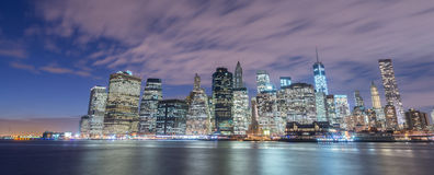 The view of lower manhattan from brooklyn Stock Photos