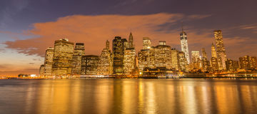 The view of lower manhattan from brooklyn Royalty Free Stock Photography