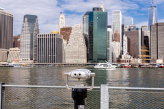 View of Lower Manhattan from the Brooklyn waterfront Stock Image