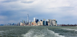 View of Lower Manhattan Royalty Free Stock Photos