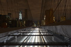View of Lower Manhattan following power outage. View of Lower Manhattan following power outage as a result of Hurricane Sandy from Brooklyn Bridge Stock Image