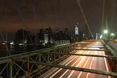 View of Lower Manhattan following power outage. View of Lower Manhattan following power outage as a result of Hurricane Sandy from Brooklyn Bridge Royalty Free Stock Image