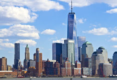 View of lower Manhattan from Jersey Royalty Free Stock Photography