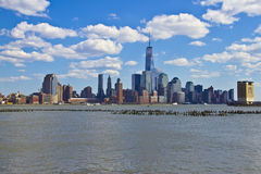 View of lower Manhattan from Jersey City Stock Photos