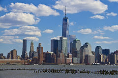 View of lower Manhattan from Jersey City Royalty Free Stock Images