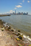 View of Lower Manhattan from Liberty Island Royalty Free Stock Images