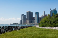 View of lower Manhattan in New York Stock Photos