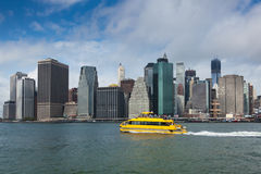 View of lower Manhattan in New York Royalty Free Stock Images